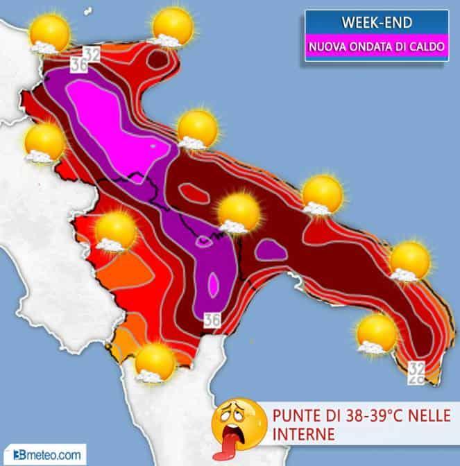 meteo caldo africano in puglia